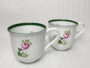 ヘレンド ウィーンのバラ グリーン マグカップ