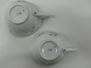 マイセン 青い花 双剣マーク
