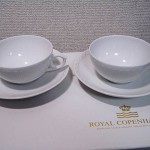 ロイヤルコペンハーゲン ホワイトフルーテッド ハーフレース ティーカップ&ソーサー