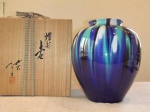 九谷焼 人間国宝 徳田八十吉 花瓶