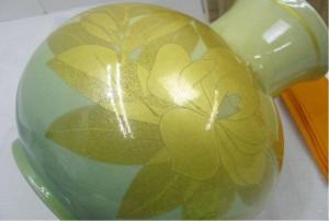 吉田美統の釉裏金彩花瓶