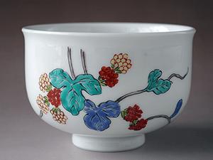 和食器/有田焼柿右衛門作イチゴ紋茶碗