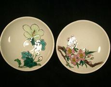九谷焼「四季の花の盃」