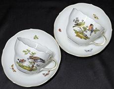 マイセン「鳥と虫」コーヒーカップ&ソーサー