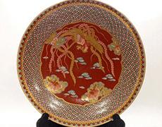 有田焼「秀峰作」錦鳳凰絵飾り皿