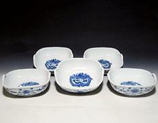 古伊万里「飛龍と花唐草」小鉢