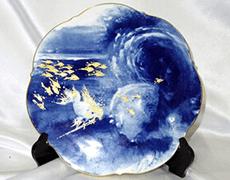 マイセン イヤープレート 1995「海の戯れ」