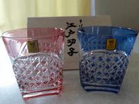 カガミクリスタル ロックグラス 江戸切子