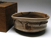 古絵唐津 轡茶碗