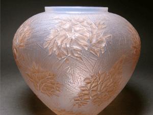 ルネ・ラリック作 1923年頃 オパルセント花瓶