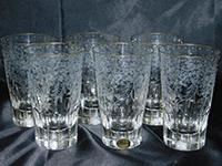 マハラニ タンブラー 6点セット ボヘミアグラス クリスタル