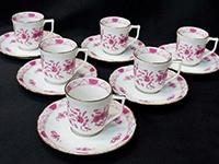 インドの華 ピンク カップ&ソーサー