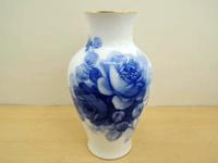 大倉陶園 ブルーローズ 花瓶