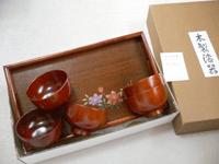 紀州漆器 長手盆汁椀