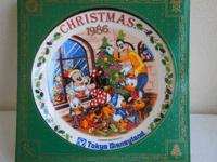 東京ディズニーランドクリスマスイヤープレート1986年